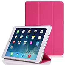 iPad Air 2 Case - MoKo Ultra Slim Lightweight Smart-shell Stand Cover Case for Apple iPad Air 2 (iPad 6) 9.7 Inch 2014 Tablet, MAGENTA (with Auto Sleep / wake, Not fit iPad Air 2013)