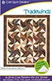 Trade Winds Tradewinds Quilt Pattern, Jelly Roll 2.5 Inch Strip Friendly, 5 Finished Size Options