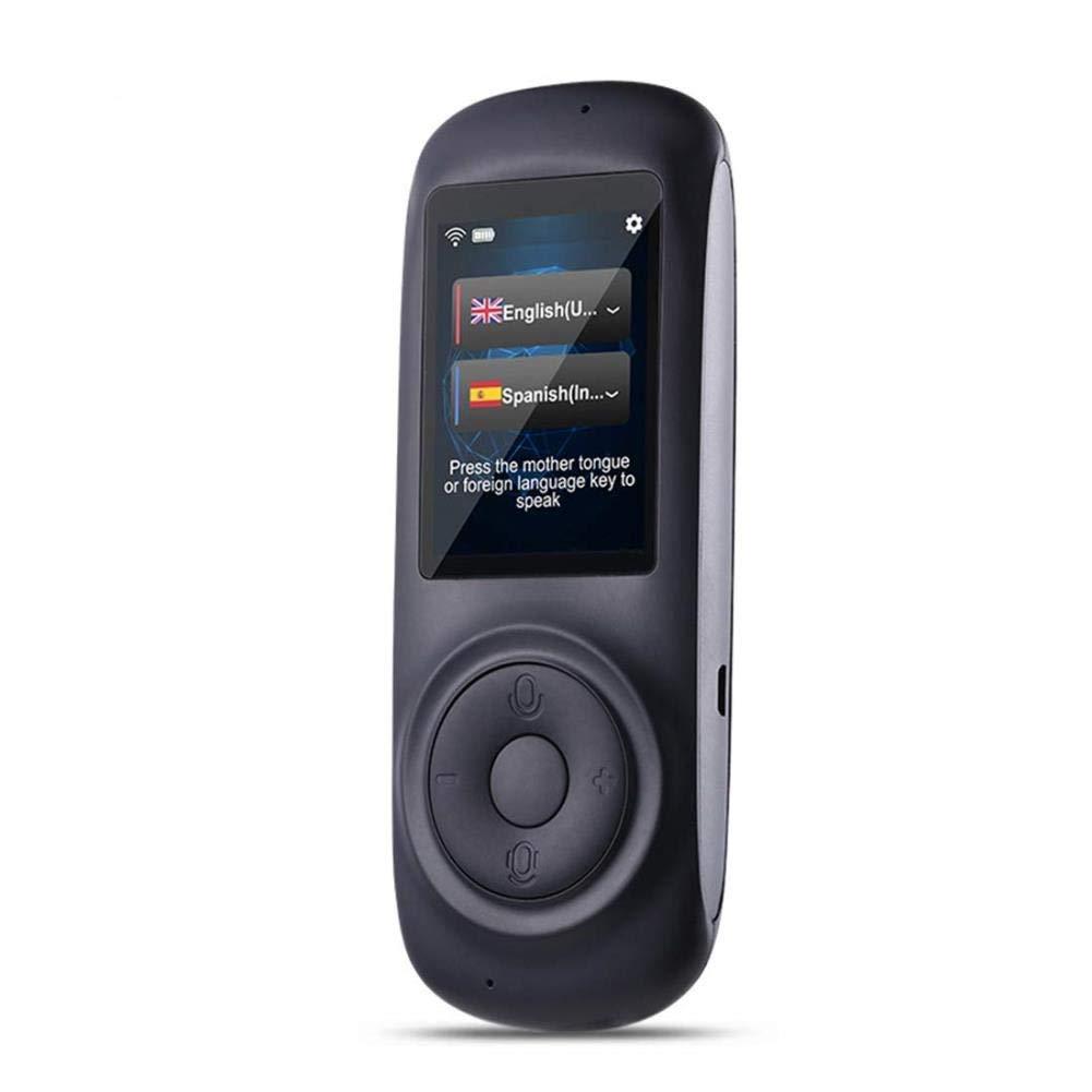 音声翻訳装置スマート言語、電子翻訳、2.4インチ、容量性タッチスクリーン、多言語サポート、白 (色 : ブラック)  ブラック B07QF4GQYZ