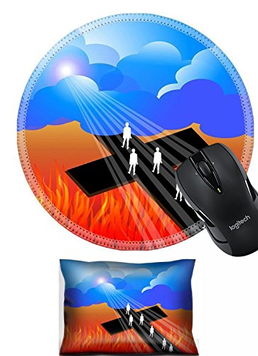 Liili Mouse Wrist Rest and Round Mousepad Set, 2pc Wrist support rest IMAGE ID: 21811489 Road to salvation ()