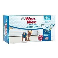 Almohadillas para ropa de pañales para perros Wee-Wee de Four Paws, paquete de 24