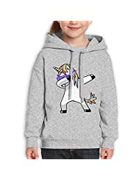 ElinaDesdemona Dabbing Unicorn Youth Hooded Pullover Sweatshirt