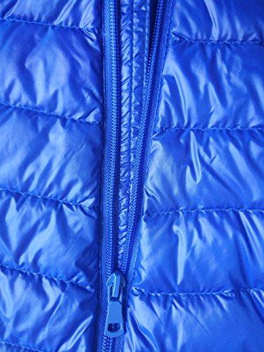 Giacca All'aria Tascabili Di Cappotti Uomini Portatili Sport Giacche Leggeri Inverno Mens Parka Blu Aperta Giù PxRt0vXw