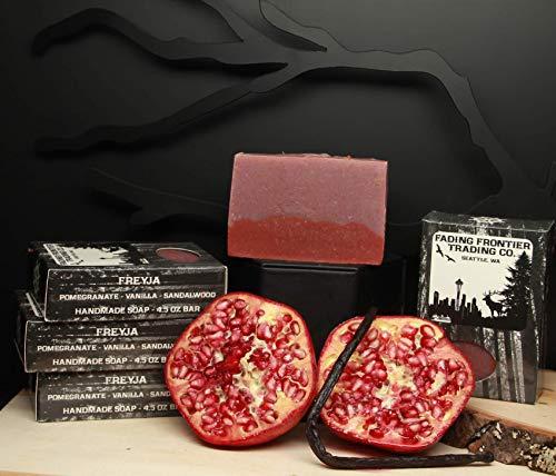 Pomegranate, Warm Vanilla, Freyja, Fading Frontier, Handmade Soap, Artisan Soap, Cold Process Soap, Natural Beeswax Soap ()