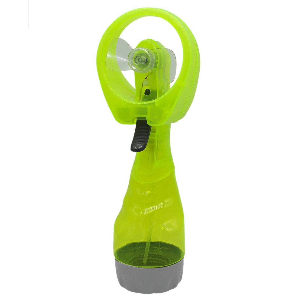 Shmei Portable Hand held Cooling Cool Water Spray Misting Fan Mist Travel Beach or Home Office Outdoor Hiking Traveling, 2 Speeds Strong Wind (Mint Green)
