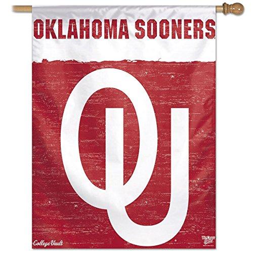 - Wincraft Oklahoma Sooners College Vault 27x37 Vertical Flag