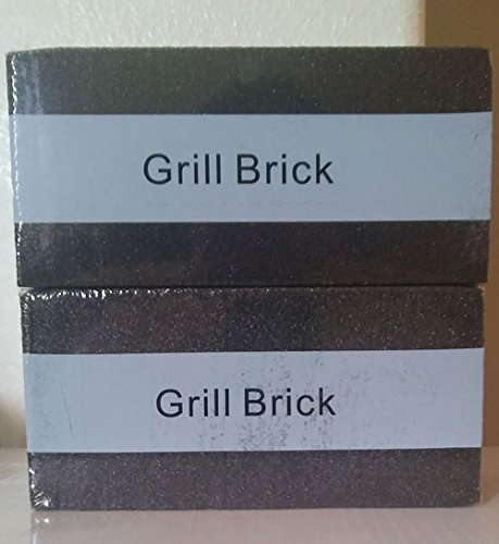2 Packs--8x 4x 3 1/2--Grill Cleaning Brick, Grilling Stone Cleaner--Descaling BBQ Block Construction, Removes Encrusted Greases, Stains Residues, Dirt and More---BLACK--Reusable Stones