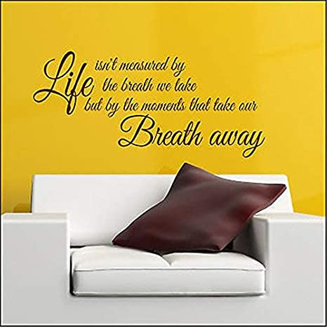 """Modern Decal Vinyl Wall Quote /""""Moments That Take Our Breath Away../""""Wall Sticker"""