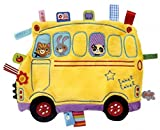 Label Label Holiday School Bus Silky Comfort Mini Grasp and Soothe Taggie Blanket