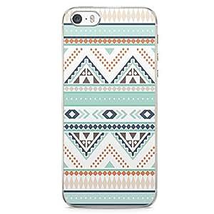iPhone 5S Transparent Edge Phone case Aztec Phone Case Aztec Green Phone Case Aztec Pattern