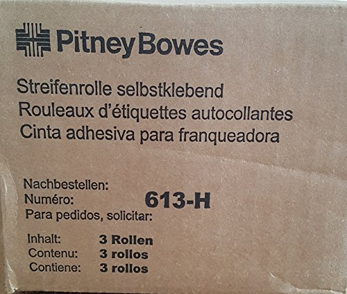 Genuine Pitney Bowes 613-H Tape Rolls by Pitney Bowes