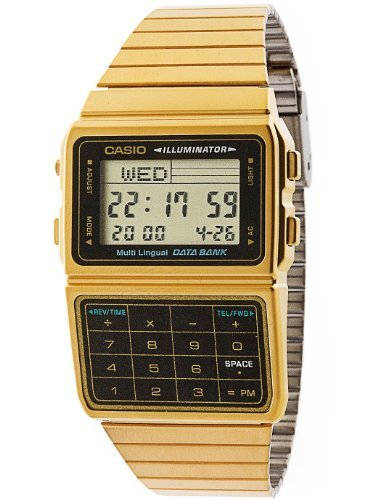 Casio DBC611G-1D Casio Gold & Black Digital Watch - Gold / One Size (Casio Gold Watch For Men)