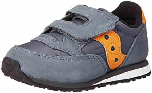 Saucony Jazz Hook and Loop Sneaker (Toddler/Little Kid), Grey/Orange, Toddler
