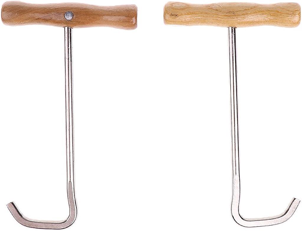 MagiDeal 1 Paar Outdoor Schuhanzieher Stiefelanzieher Anziehhilfe aus Holz f/ür Stiefel Stiefelhaken