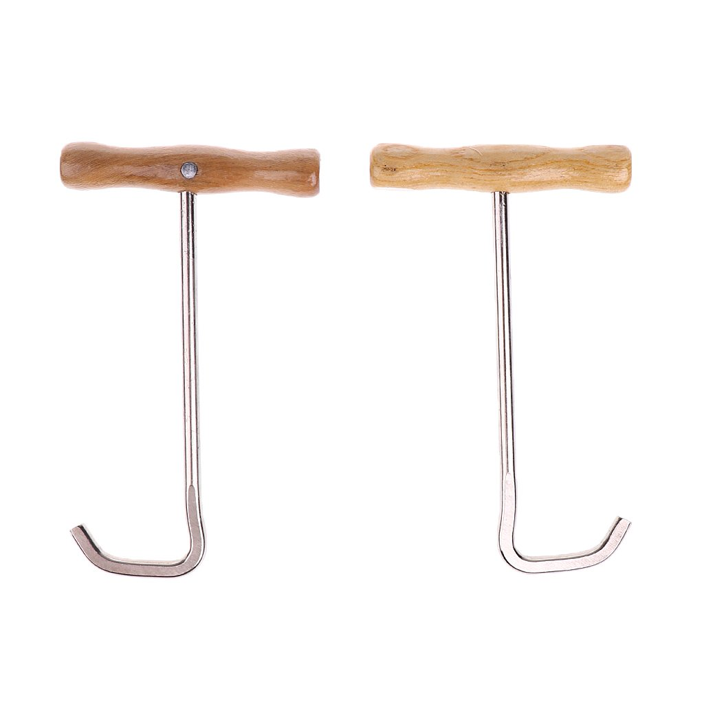 FLAMEER 1 Pair Durable Boots Dressing Pulls Horse Riding Shoes Hooks 17x10x5.5cm