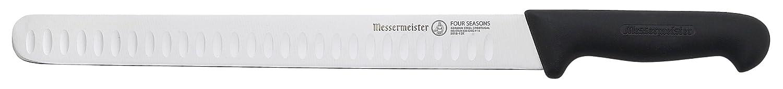 Messermeister Four Seasons Kullenschliff Round Tip Slicer, 12-Inch 5018-12K