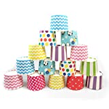 Btacy 50Pcs Paper Cake Cup Cupcake Cases Liners Muffin Dessert Baking Wedding Party