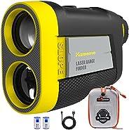 KAREEME Golf Rangefinder with Slope, PF260 Laser Range Finder, Rechargeable Golf Distance Finder 660 Yards, Fl