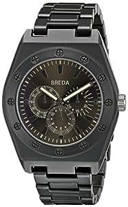 Breda Men's 8149-Black Logan Thick Bold Bezel Metal Watch