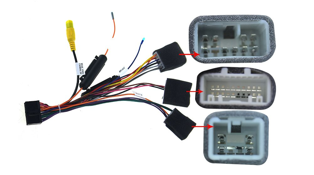 JOYING Universal Wiring Harness for Toyota Apply to non-amplifier model  (ONLY Fit JOYING Head Unit)