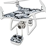 MightySkins Protective Vinyl Skin Decal for DJI Phantom 4 Quadcopter Drone wrap Cover Sticker Skins Gray Camouflage