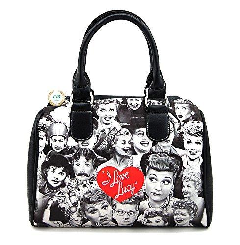 I Love Lucy Collage Medium Purse, Plus Key Chain (Black NY)