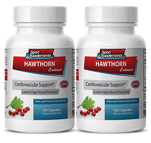 metabolism booster for men - HAWTHORN BERRY EXTRACT 665MG - hawthorn extract powder - 2 Bottles (240 Capsules) by Sport Supplements