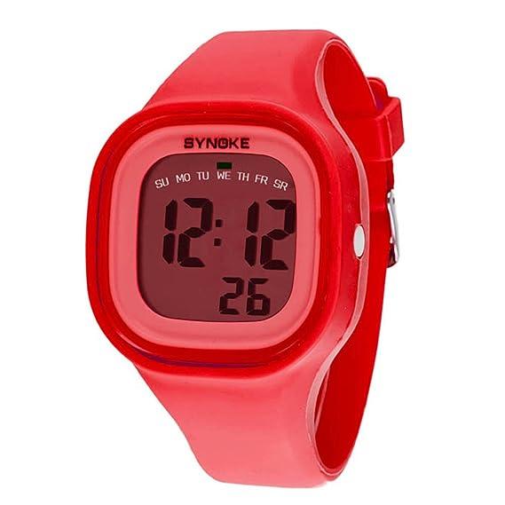 Culater® LED-Reloj digital de silicona infantil para niño, color rojo: Amazon.es: Relojes