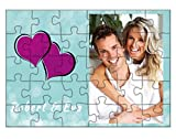 Personalised Wooden Photo Jigsaw Puzzle Photo Frame - 6' x 8' - 30 Pieces - With Wooden Frame - Customize with Your Photos & Messages