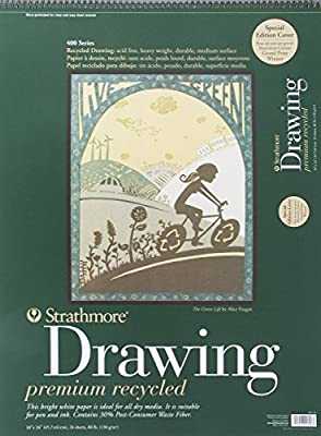 "Strathmore 400 Series Recycled Drawing Pad, 18""x24"" Wire Bound, 24 Sheets"