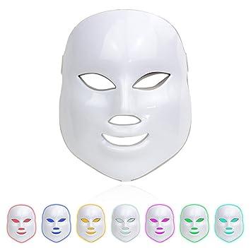 7 Colores LED Cara Máscara Ligero Fotón Facial Lámpara Piel Belleza Terapia Rejuvenecimiento Anti-envejecimiento