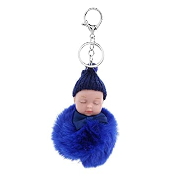 ZXMYSL Llavero Colgante Anillo Lindo Dormir Baby Doll ...