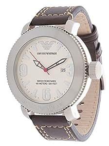 Emporio Armani AR5833 - Reloj para hombres, correa de cuero color marrón