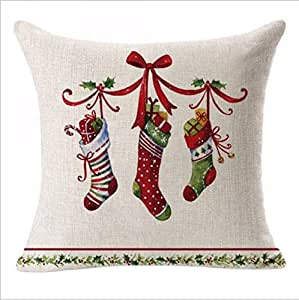 45x45 cm Whats a Christmas Gram Canvas Pillowcase Throw Pillow Cover Square Home Decorative ERRY CHRISTMAS THEME PILLOW