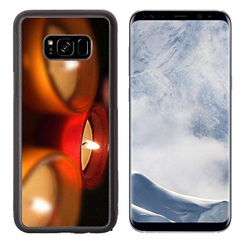 Liili Premium Samsung Galaxy S8 Plus Aluminum Backplate Bumper Snap Case Cuatro porta velas de cristal con velas encendidas Four carry you crystal Photo 13418569 Simple Snap - Photo Store Amarillo