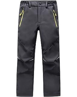b0906f7757420 Garde au Chaud Coupe-Vent Sport en Plein air Pantalon Imperméable Softshell  Enfant Garçon Fille