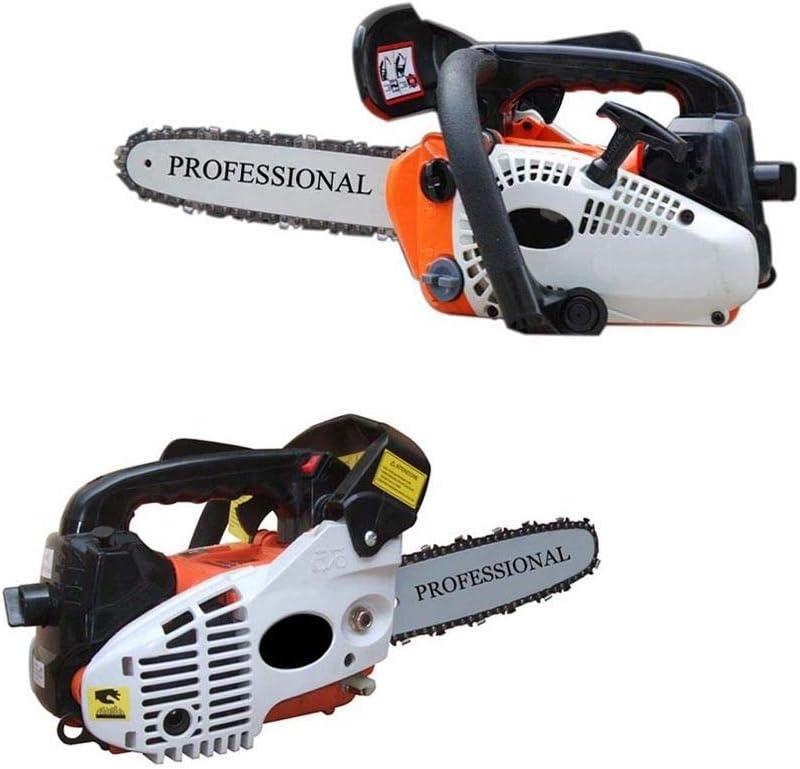 Motosierra para poda de ramas y corte de madera con hoja de 25 cm y motor de explosión de 25,4 cc