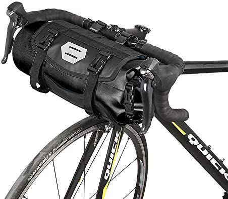 ポリエステルと自転車のフロントライトの界面のメイド自転車ハンドルバーバッグ、100%防水7Lサイクリング自転車マウンテンロードMTBバイクのフロントトップフレームポーチ付き圧延可能なオープニング