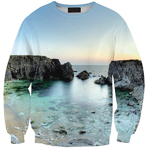 Pull JTC Col Sweat Rond Homme Femme Pull over Imprim wxnCxfpqF