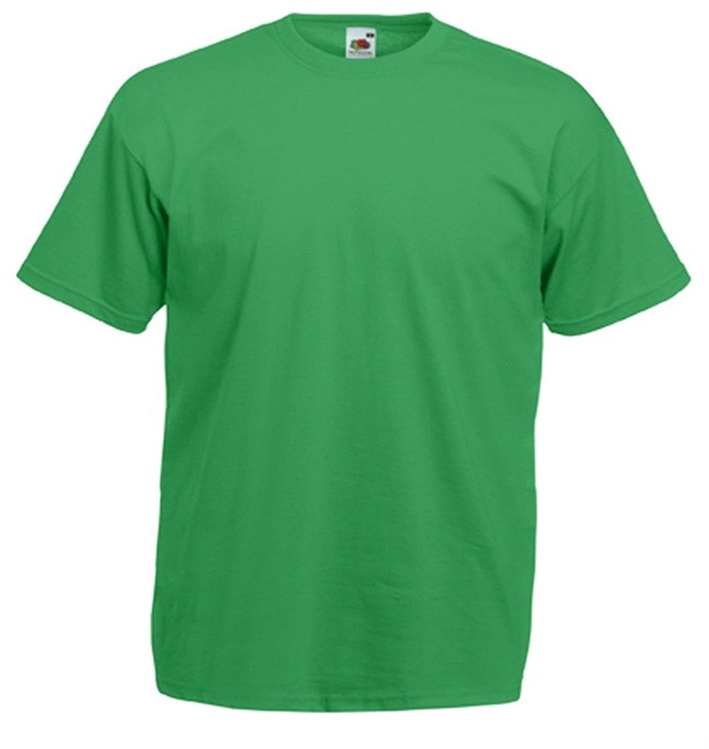 Kelly Green T-Shirt Plain Tee apparel clothing top gift for him or ...
