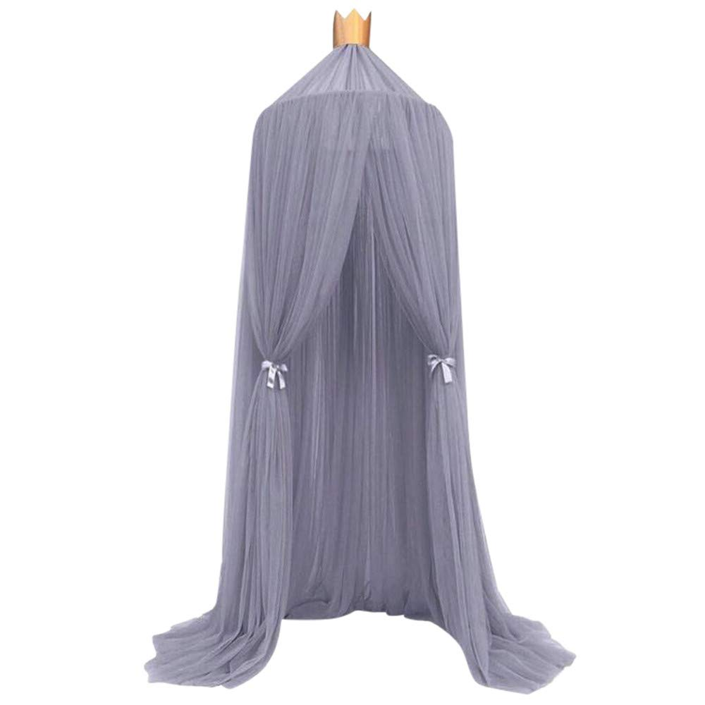 Sonmer Kids Bed Canopy Bedcover Mosquito Net Bedding Dome Tent (Purple)