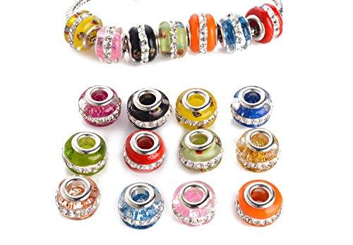 Yeshan Silver Rhinestone Pandora Bracelets
