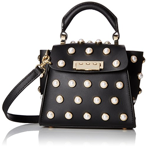 ZAC Zac Posen Eartha Iconic Top Handle Mini-Pearl Lady, - Posen Zac Satchel Leather