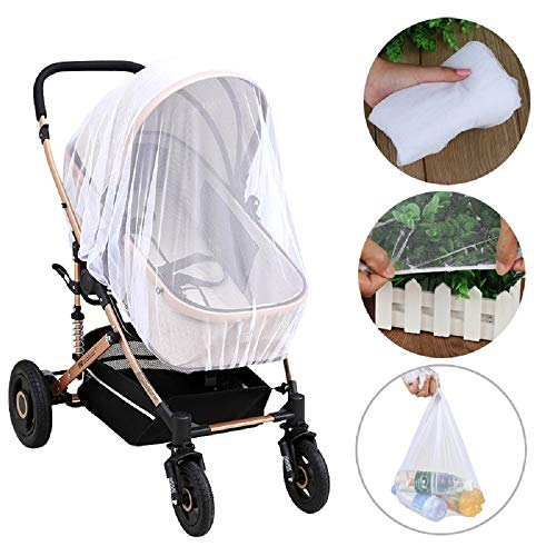 Mosquito Net For Baby Strollers Leegoal Car Seats Bassinets And Carriers High Density Insect Netting