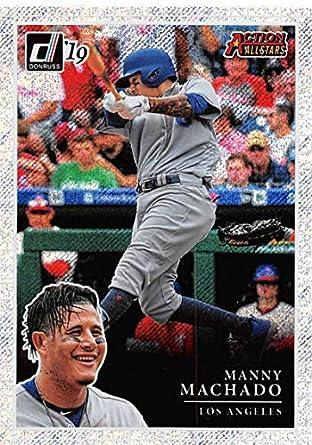 2ae8e7d6 2019 Donruss Action All-Stars Rapture Baseball #10 Manny Machado Los  Angeles Dodgers Blaster