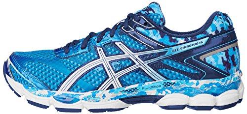 ASICS Men's Gel-Cumulus 16 BR Running Shoe,Aqua/White/Blue Ribbon,12 M US