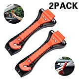 Car Safety Hammer with Seat belt Cutter and Car Window Glass Breaker,car escape tool 2 Pack,Car Accessories Interior