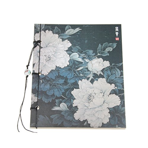Bao Core Chinese Painting Printing Cover Handmade Traditional Thread Binding Kraft Paper Sketchbook Drawing Pad 141172mm,80 Sheets