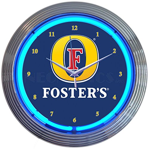 Neonetics Fosters Beer NEON Clock
