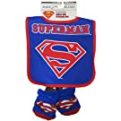 DC Comics Superman Boys Blue Infant Bib and Bootie Set [5013]